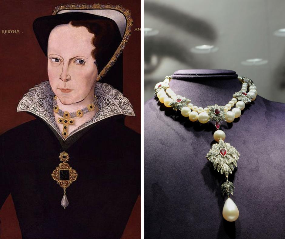Pérola la peregrina de Maria Tudor e Elizabeth Taylor