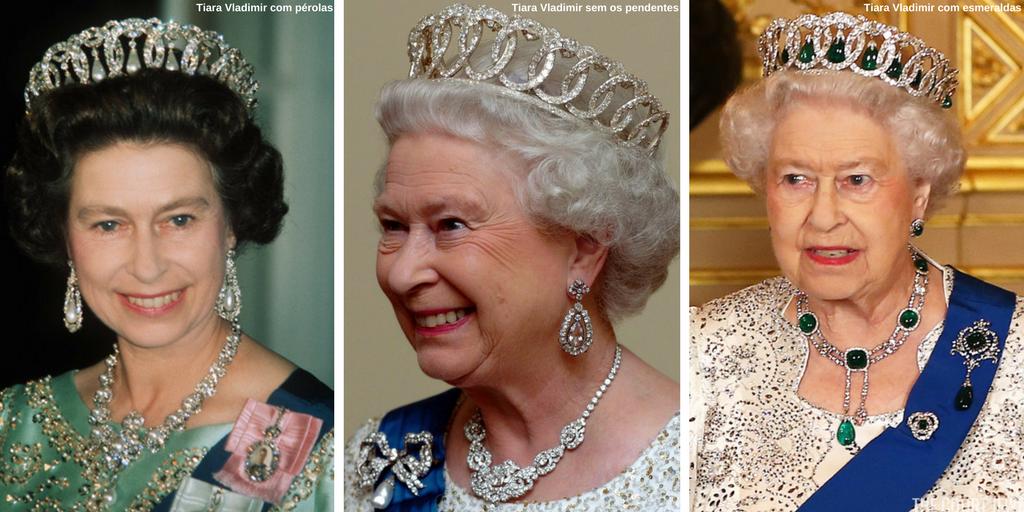 Rainha Elizabeth II com a Tiara Vladimir