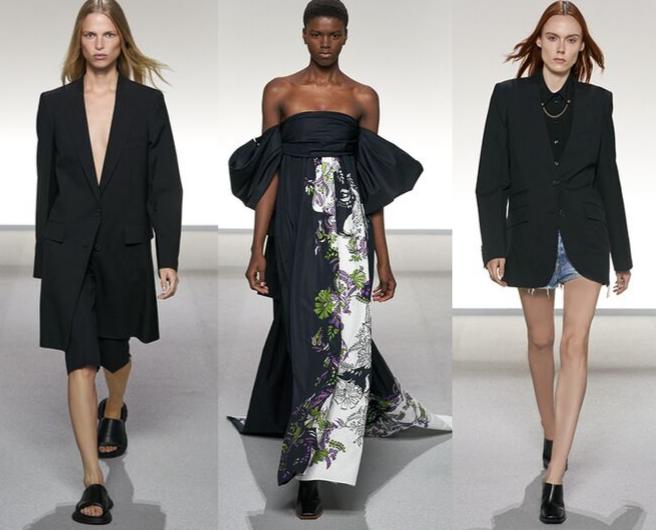 3 modelos no desfile Givenchy verão  Paris 2020