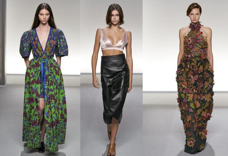 3 modelos no desfile Givenchy Paris primavera/verão 2020