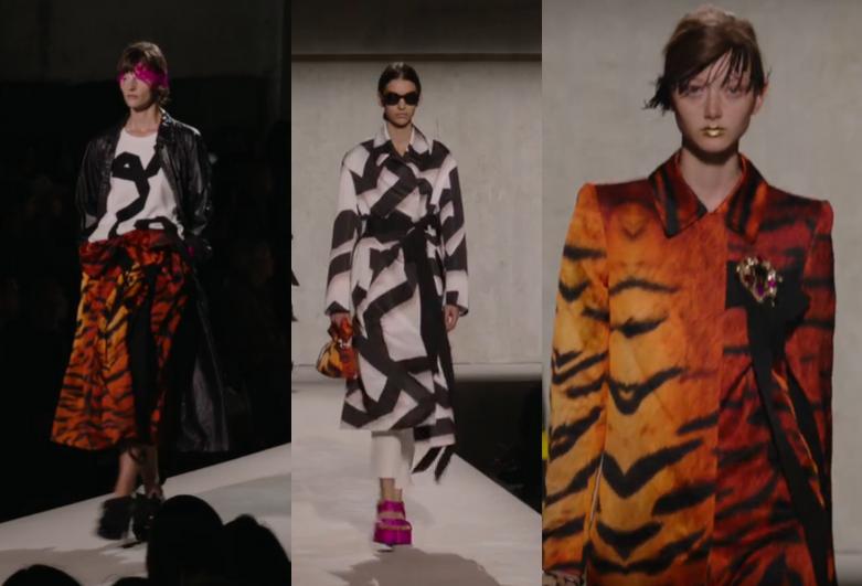 Imagem com combinação do animal print estampado em Tigre com P&B e acento em rosa