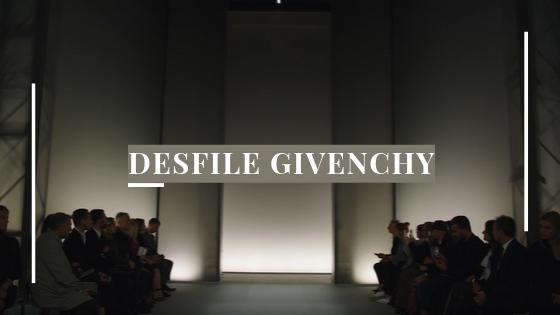 Banner desfile Givenchy