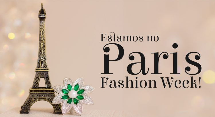 Banner estamos no Paris Fashion Week
