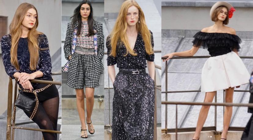 Imagem desfile Chanel modelos