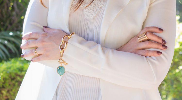 Correntes femininas pulseira de elos