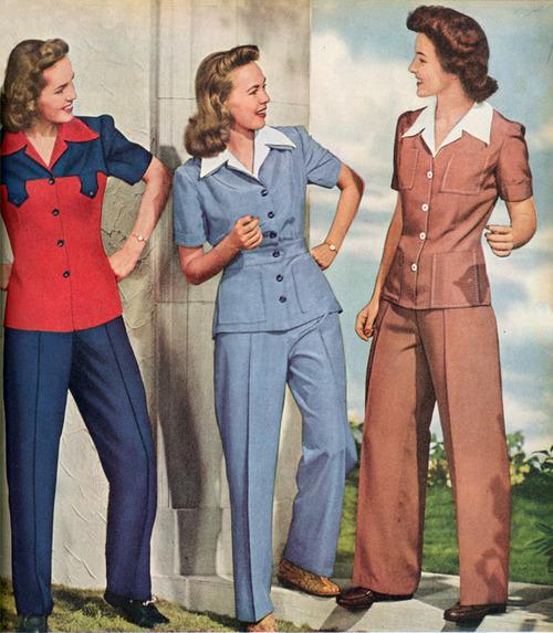 imagem calças femininas cigarretes anos 50